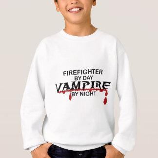 Feuerwehrmann bis zum Tag, Vampir bis zum Nacht Sweatshirt