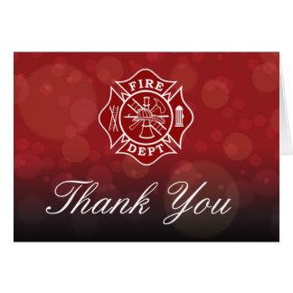Feuerwehrmann danken Ihnen Gruß-Karte Grußkarte
