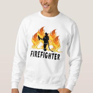 Feuerwehrmann-Flammen Sweatshirt
