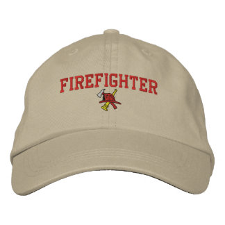 Feuerwehrmann gestickter Hut
