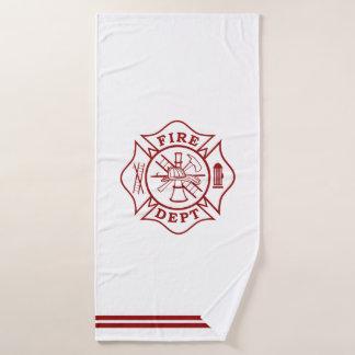 Feuerwehrmann-Malteserkreuz-Bad-Tuch Badehandtuch