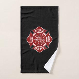 Feuerwehrmann-Malteserkreuz-Handtuch Handtuch