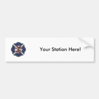 Feuerwehrmann-patriotisches maltesisches autoaufkleber