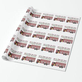 Feuerwehrmann-Sankt-Feiertags-Packpapier Geschenkpapier