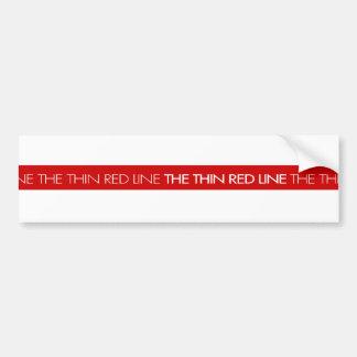 Feuerwehrmänner… die dünne rote Linie Autoaufkleber