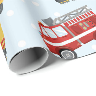 Feuerwehrmannmusterspaß Party-Verpackungspapier Geschenkpapier