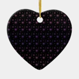 Feuerwerks-Muster Keramik Herz-Ornament