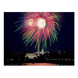 Feuerwerks-Postkarte Postkarte