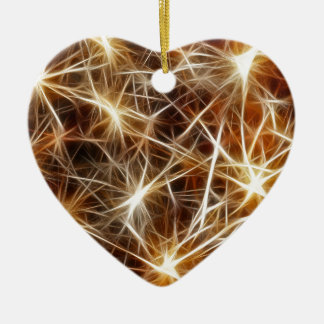 Feuerwerks-Sterne Keramik Herz-Ornament