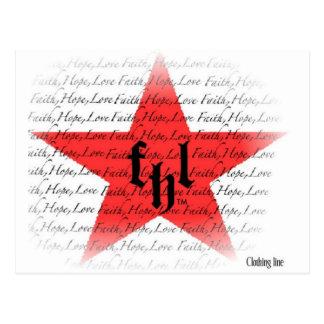 FHL (Glaube, Hoffnung u. Liebe) alles Stern-Logo Postkarte