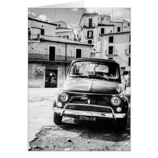 Fiat 500, cinquecento in Italien, klassisches Mitteilungskarte