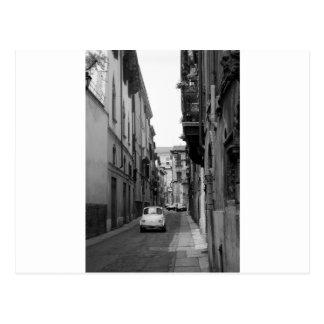 Fiat Cinquecento in Verona Postkarte