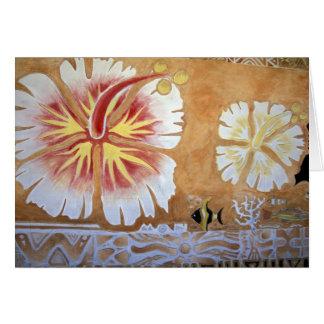 Fidschi, Wandgemälde Art. Grußkarte