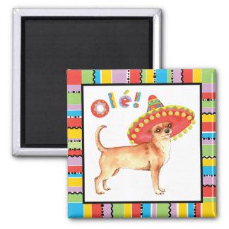 Fiesta-Chihuahua Quadratischer Magnet