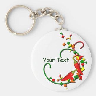 Fiesta-Chili-Paprikaschoten keychain Schlüsselanhänger