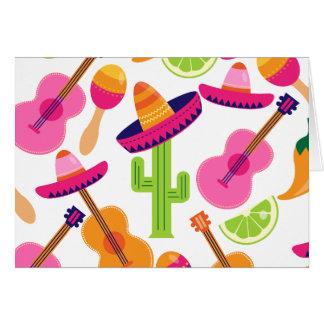 Fiesta-Partysombrero-Kaktus kalkt Paprikaschoten Karte