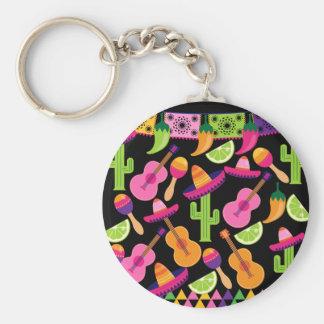 Fiesta-Partysombrero-Kaktus kalkt Paprikaschoten Schlüsselanhänger