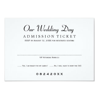 Film-Karten-Art Hochzeit UAWG Karten-  8,9 X 12,7 Cm Einladungskarte