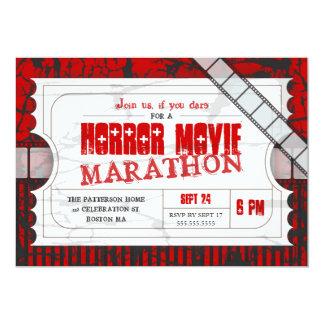 Film-Karten-Horror-Film-Party-Aufnahme laden ein 12,7 X 17,8 Cm Einladungskarte