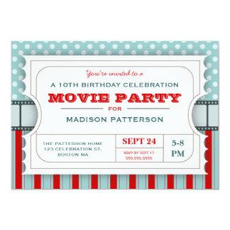 Film-Karten-Party-Geburtstags-Party-Aufnahme-Karte 12,7 X 17,8 Cm Einladungskarte