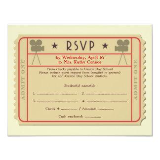 Film-Karten-Preis-Zeremonie-Party Einladung