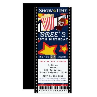 Film-Kino-Popcorn VIP-Party-Karten-Einladung 10,2 X 23,5 Cm Einladungskarte