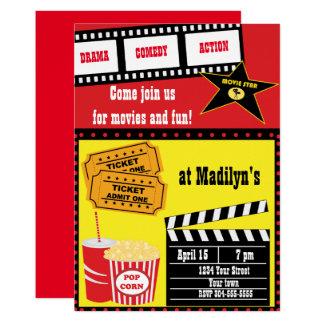 Film-Nachtgeburtstags-Party Karte