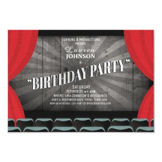 Film-Nachtgeburtstags-Party-Theater-Einladung Karte