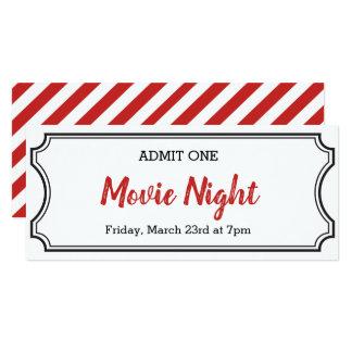 Film-Nachtkupon-Karten-Einladung Karte