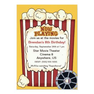 Film-Popcorn-Kindergeburtstag-Einladung 12,7 X 17,8 Cm Einladungskarte