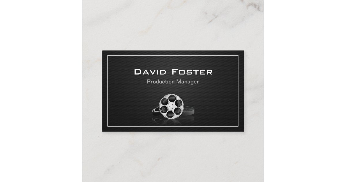 Film Produktionsleiter Direktor Producer Cutter Visitenkarte