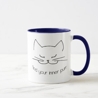 Finden Sie Ihre innere Schnurren-Wecker-Tasse Tasse
