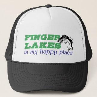 Finger Seen ist mein glücklicher Platz Truckerkappe