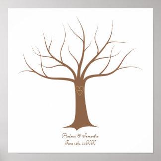 Fingerabdruck-Baum-HochzeitGuestbook Poster