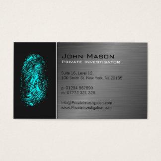 Fingerabdruck-Detektiv-Visitenkarte Visitenkarte