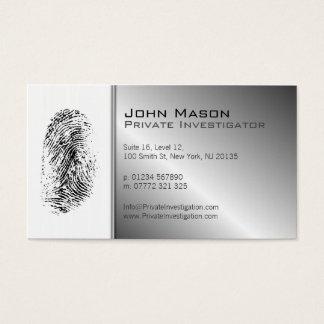 Fingerabdruck-Detektiv-Visitenkarte Visitenkarten