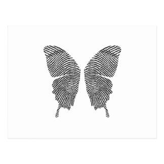 Fingerabdruck-Schmetterlings-Flügel Postkarte