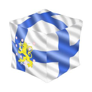 Finnische Flagge Kubus Sitzpuff