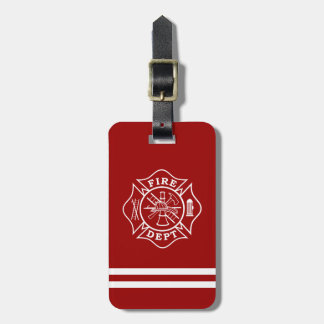 Fire Dept / Firefighter Maltese Cross Luggage Tag Koffer Anhänger