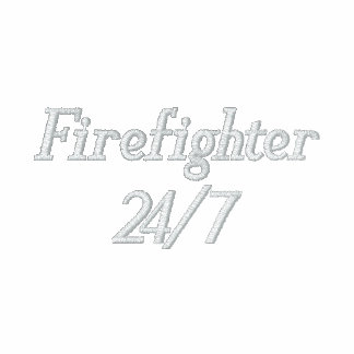 Firefighter-24/7-Personalize Name Bestickte Freizeitjacken