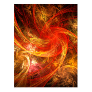 Firestorm-Nova-abstrakte Kunst-Postkarte Postkarte