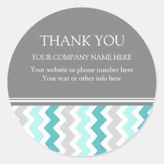 Firmennamen-Aqua Business Thank You Company Runder Aufkleber
