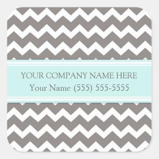 Firmennamen-Aqua-graues Zickzack Business Custom Quadrat-Aufkleber