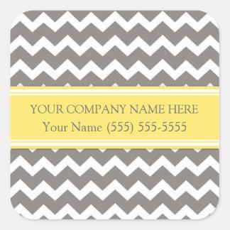 Firmennamen-Aufkleber Business Custom Company Quadrat-Aufkleber