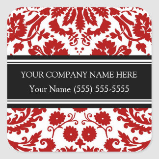 Firmennamen-Aufkleber Business Custom Company rot Quadrat-Aufkleber
