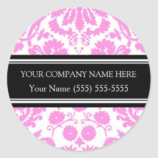 Firmennamen-Aufkleber-Rosa Business Custom Company Runder Aufkleber