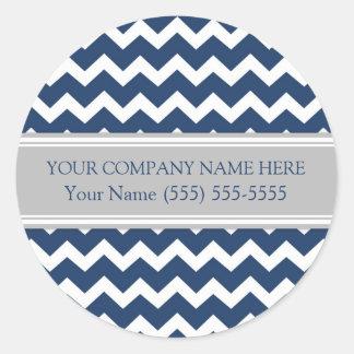 Firmennamen-blaues Grau Business Custom Company Runder Aufkleber
