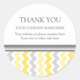 Firmennamen-Gelb Business Thank You Company Runder Aufkleber
