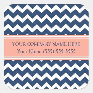 Firmennamen-Koralle Business Custom Company Quadrat-Aufkleber