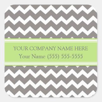 Firmennamen-Limones graues Zickzack Business Quadrat-Aufkleber